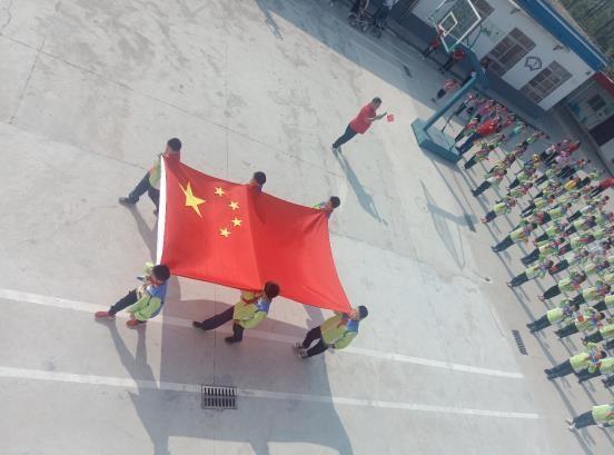 """三觉镇 冯楼小学开展""""同升国旗共唱国歌""""主题教育活动"""